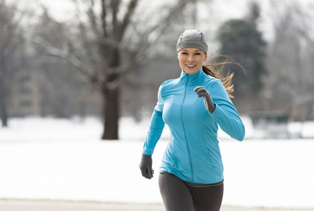 female running in Cold Weather