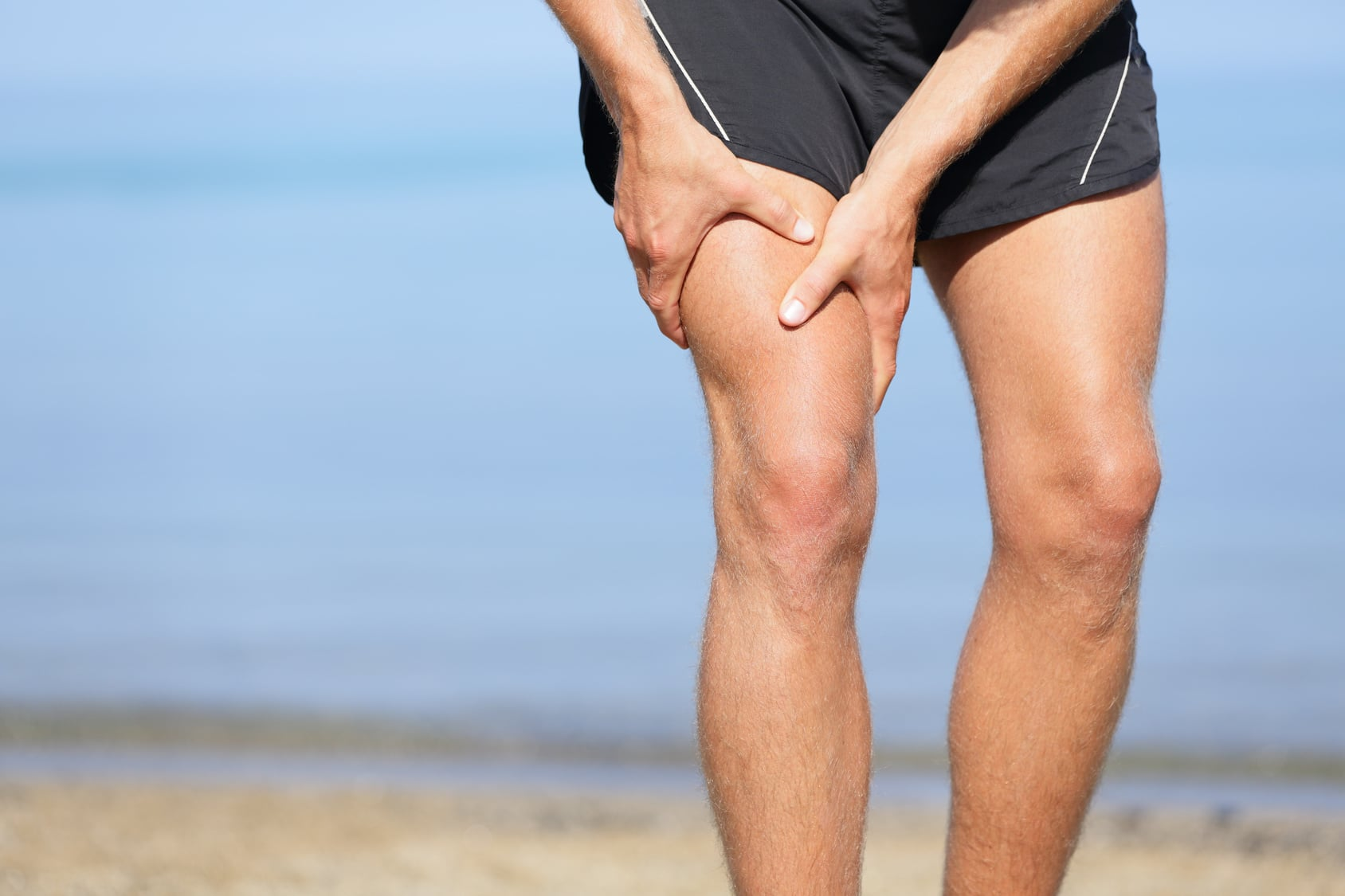 runner suffering from injury
