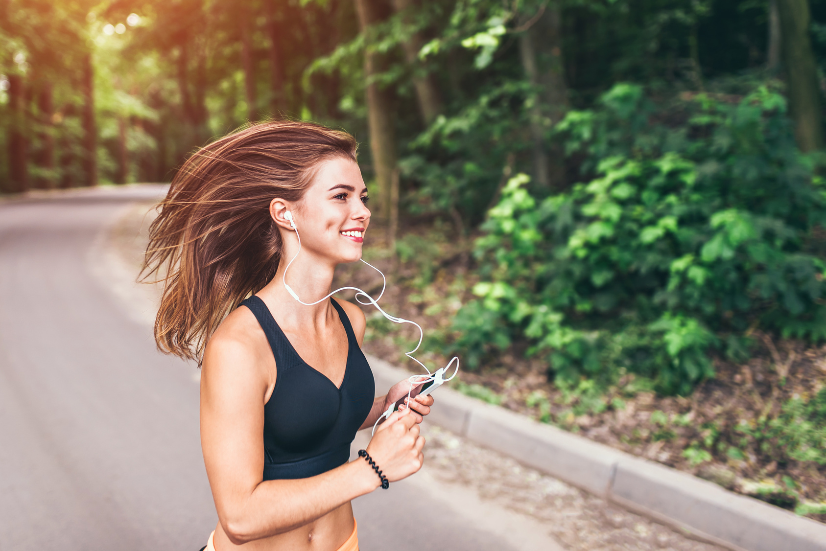 woman running in trail