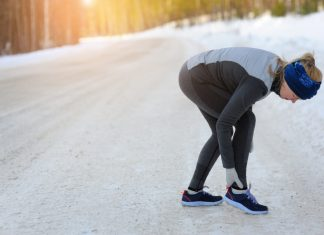runner wearing Cold Weather Running Gear